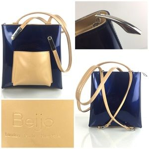 Beijo Patent Leather Shoulder Bag/Backpack Purse